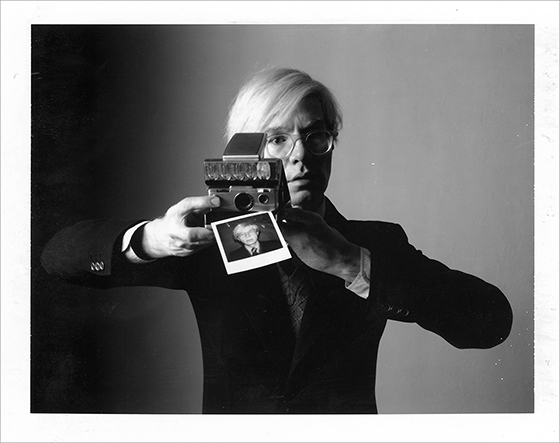 "Oliviero Toscani, ""Andy Warhol with camera"", 1974."