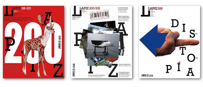 Portadas LAPIZ nº 199/200, nº 230/231 y nº 288.