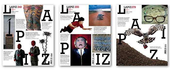 Portadas LAPIZ nº 249, nº 255 y nº 279.