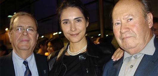 De izquierda a derecha: José Alberto López, Vivianne Loría y Ramón Bilbao. © LAPIZ