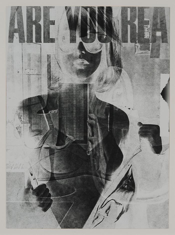 "Robert Heinecken, ""Are You Rea #1"" (detalle), 1964-1968, gelatina de plata."